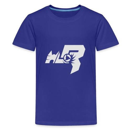 HLR_logo_white - Teenager Premium T-Shirt