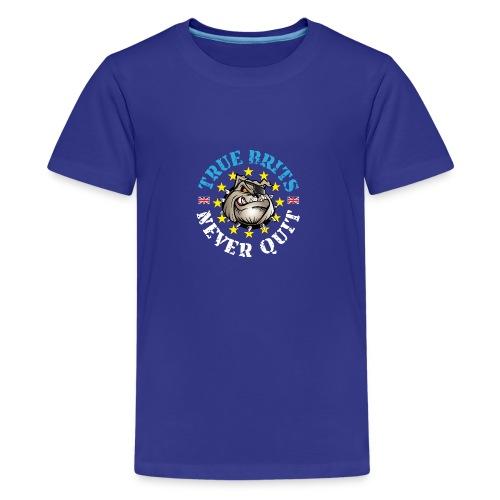 True Brits Never Quit Mens T'shirt - Teenage Premium T-Shirt