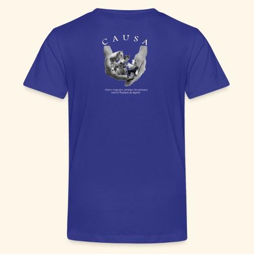 Association CAUSA texte blanc - T-shirt Premium Ado