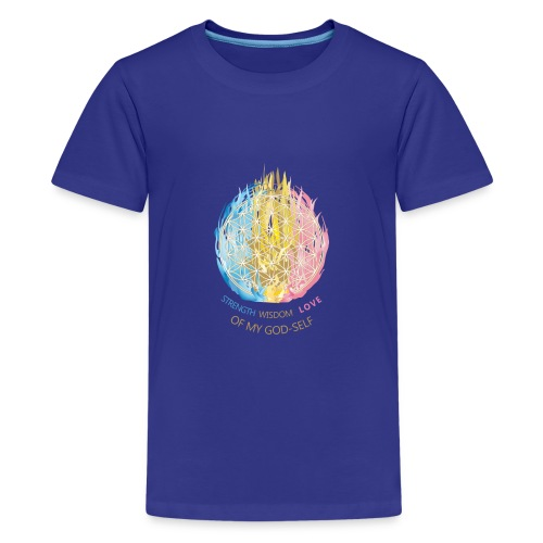 Blume des Lebens & Dreifältige Flamme - Teenager Premium T-Shirt