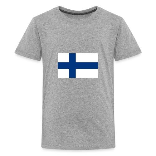 800pxflag of finlandsvg - Teinien premium t-paita