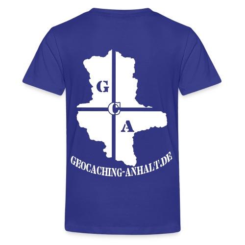Logo schwarz mit URL - Teenager Premium T-Shirt
