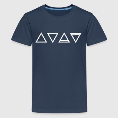 Element, symboler, triangel, magic, ockult Hermetics - Premium-T-shirt tonåring