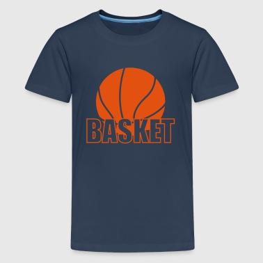 Basket - Premium T-skjorte for tenåringer