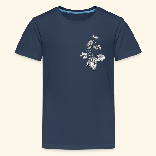 Flower Heart - Teenager Premium T-Shirt