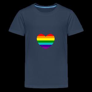 Hart in regenboog kleuren - Teenager Premium T-shirt
