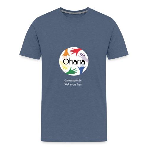 Logo mit weißem Text - Teenager Premium T-Shirt