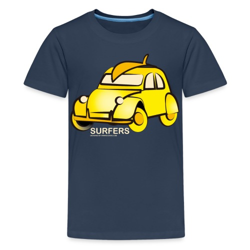 surferyellowcar0101 - Camiseta premium adolescente