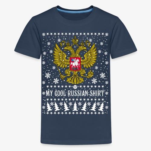 116 My Cool Russian Shirt Russland T-Shirt Snow - Teenager Premium T-Shirt