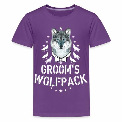 164 Wolf JGA GROOM'S Wolfpack - Teenager Premium T-Shirt