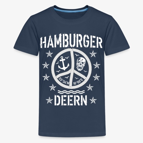 97 Hamburger Deern Peace Friedenszeichen Seil - Teenager Premium T-Shirt