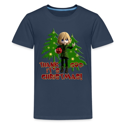 Weihnachtself Thank God it´s Christmas! - Teenager Premium T-Shirt
