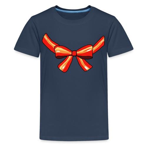 Schleife rot - Teenager Premium T-Shirt