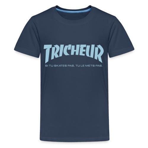 skateboard trasher tricheur - T-shirt Premium Ado