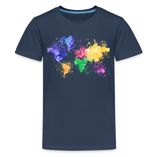 Wanderlust Map - Teenager Premium T-Shirt