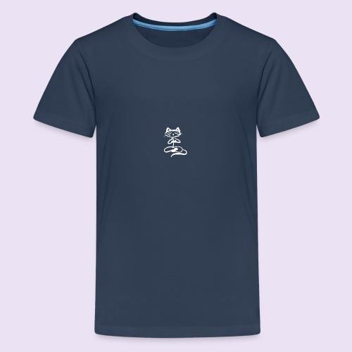 Chat zen Blanc - T-shirt Premium Ado