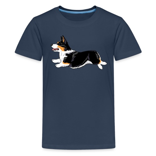 Welshcorgi2 - Teinien premium t-paita