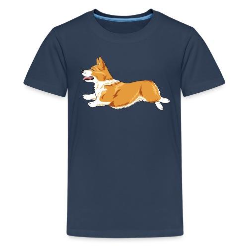 Welshcorgi4 - Teinien premium t-paita