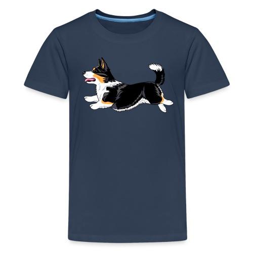 Welshcorgi6 - Teinien premium t-paita