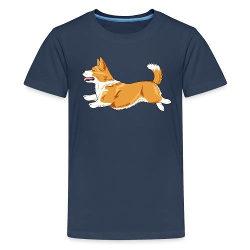 Welshcorgi3 - Teinien premium t-paita
