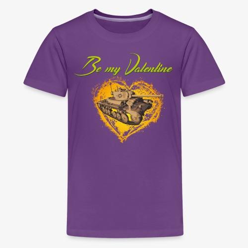 Glowing Valentine Heart - Teenager Premium T-Shirt
