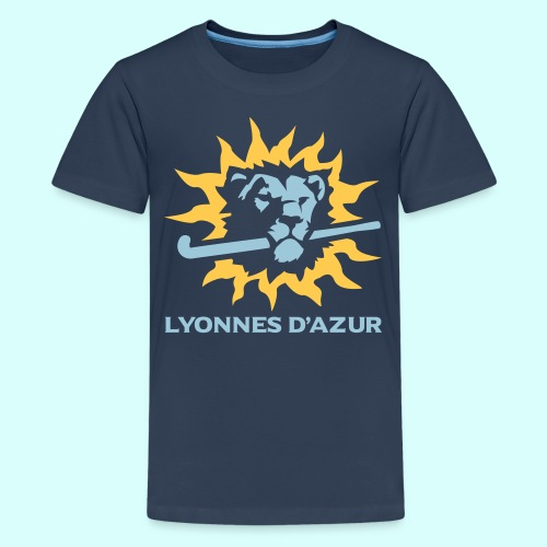 Lyonnes d azur 2 couleurs - T-shirt Premium Ado