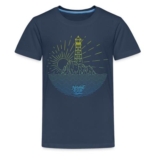 Leuchtturm mit Sonne am Meer - Teenager Premium T-Shirt