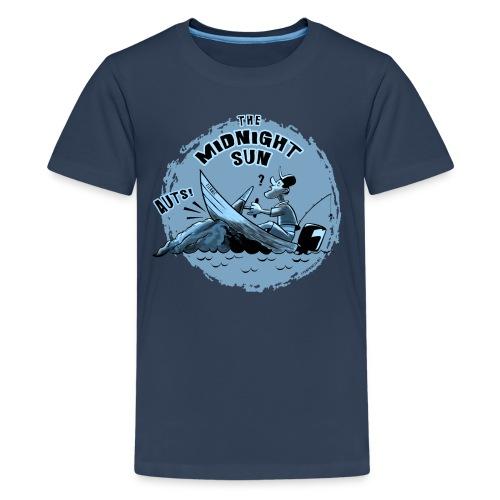 MIDNIGHT SUN, FUNNY FISHING TEXTILES, GIFTS - Teinien premium t-paita
