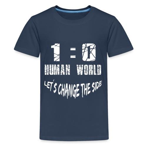 Human VS World Mensch gegen Welt - Teenager Premium T-Shirt