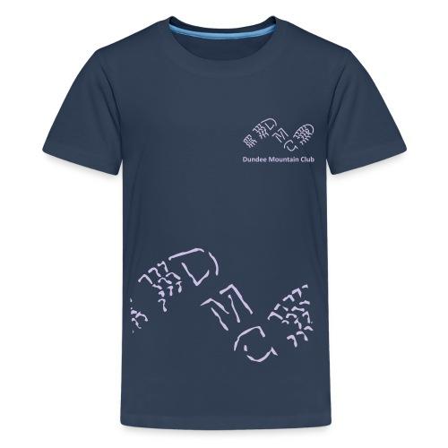 Logo big rough crop - Teenage Premium T-Shirt