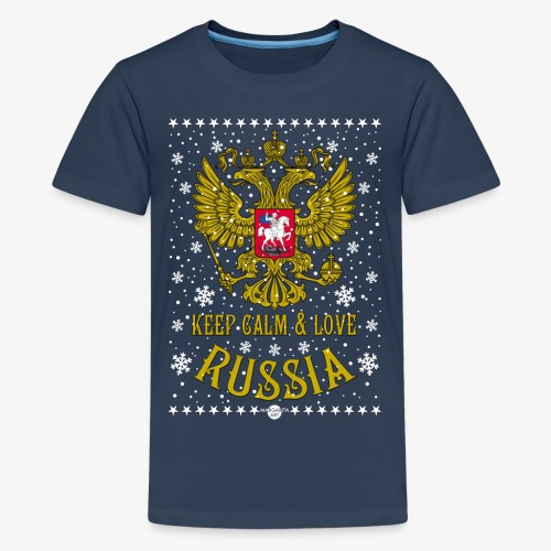 119 Keep Calm and love Russia Wappen Schnee - Teenager Premium T-Shirt