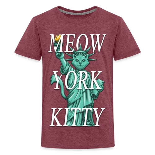 Meow York Kitty - Teenage Premium T-Shirt