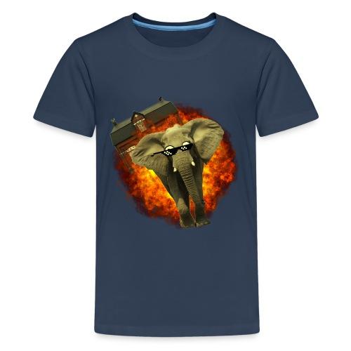 olifant op avontuur - Teenager Premium T-shirt