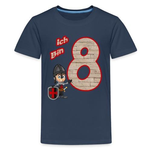 Geburtstagsshirt Ritter - Geburtstag 8 Jahre Junge - Teenager Premium T-Shirt