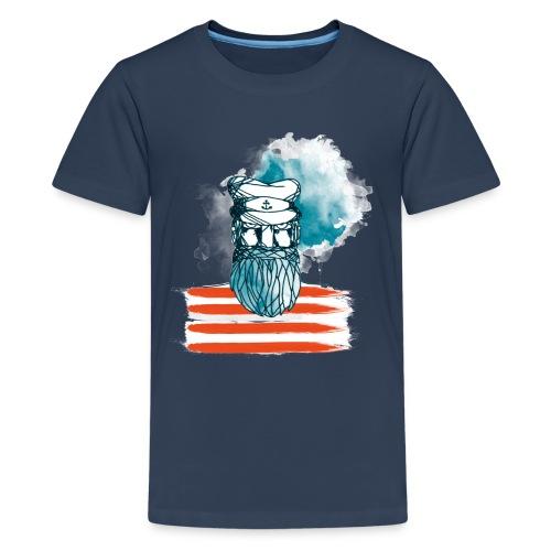 Der alte Seebär - Maritim Serie von AP-Design - Teenager Premium T-Shirt