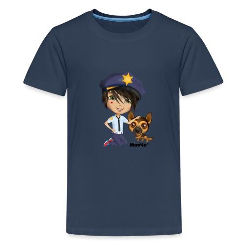 Jack and dog - av Momio Designer Cat9999 - Premium T-skjorte for tenåringer