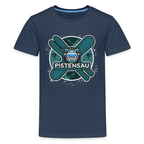 PistenSau Nervenkitzeljägergrün - Teenager Premium T-Shirt
