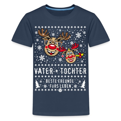 106 Hirsch Vater Tochter beste Freunde fürs Leben - Teenager Premium T-Shirt