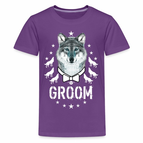 161 Wolf JGA GROOM Wolfpack Sterne - Teenager Premium T-Shirt