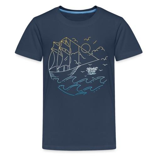 Schiff mit Sonne und Meer - Teenager Premium T-Shirt