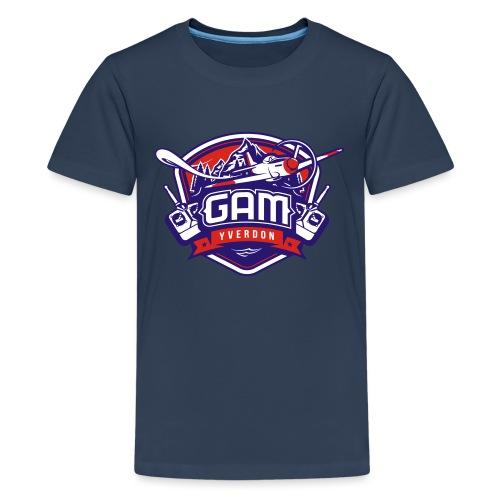 gam yverdon logo cmjnpage001 - T-shirt Premium Ado
