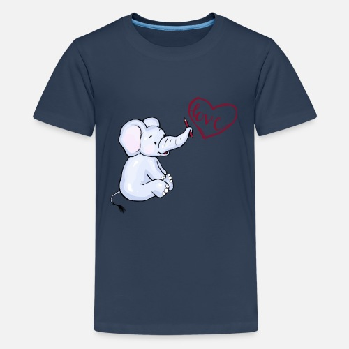 Baby Elefant love - Teenager Premium T-Shirt