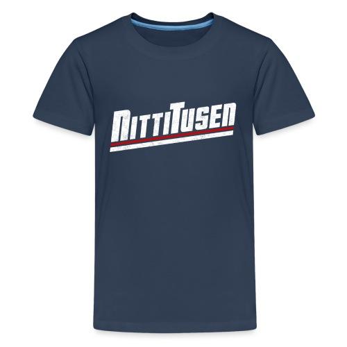 Nittitusen print vit - Premium-T-shirt tonåring