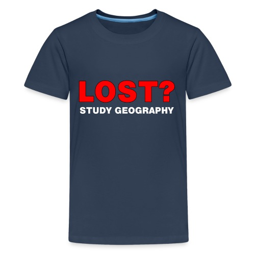 Lost? White Text - Teenage Premium T-Shirt