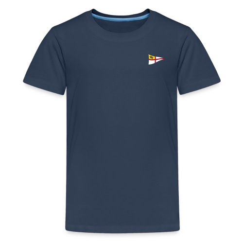 ROYC Logo 3 Farb Dunkel SIMPLE - Teenager Premium T-Shirt