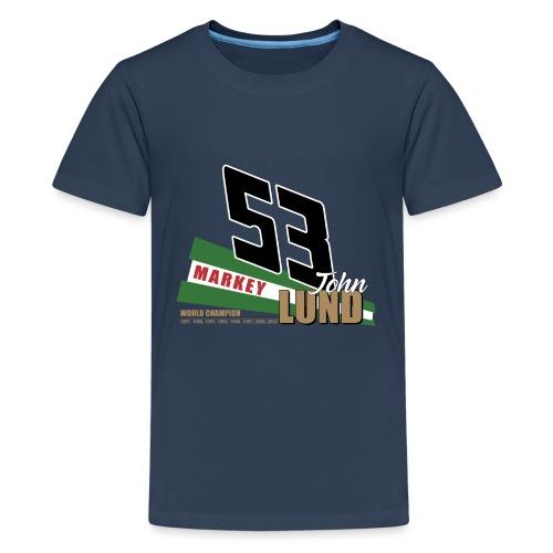 53 John Lund World Champion - Teenage Premium T-Shirt