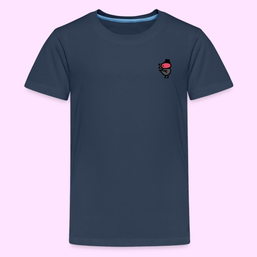 Fancy Pinkguin - Teenager premium T-shirt