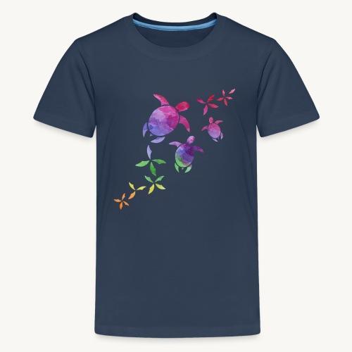 Schildkröten im Regenbogen - Teenager Premium T-Shirt