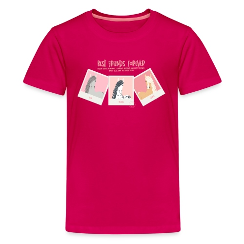 Best horse friends forever - Teenage Premium T-Shirt