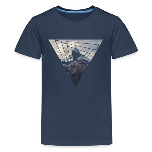 Matterhorn Zermatt Dreieck Design - Teenager Premium T-Shirt
